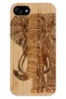 iPhone 6/6S/7/8 - Real Bamboo wood Elephant Case