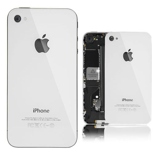 pretty nice f4405 e5501 iPhone 4S Glass Back Cover White